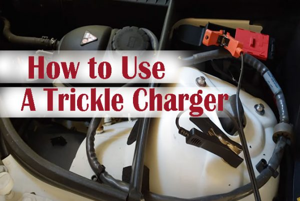 how to charge a car battery with a trickle charger